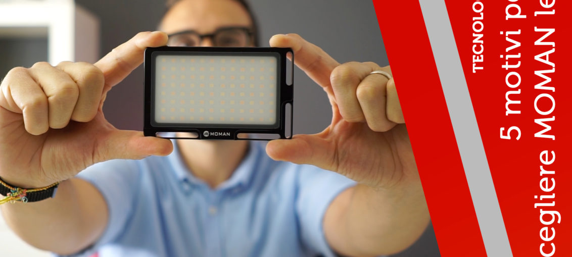 moman luce led faretto foto video
